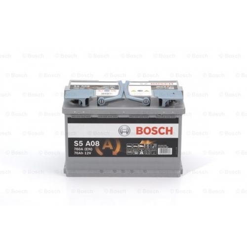 Аккумулятор BOSCH S5 AGM SILVER 70 А*ч -/+ 760A 0092S5A080