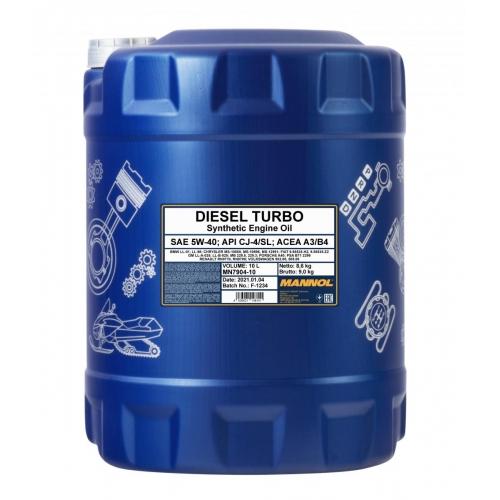 Моторное масло DIESEL TURBO 5W-40 CI-4/SJ  10л